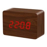 Ξύλινο επιτραπέζιο ρολόι με οθόνη LED - Θερμόμετρο - Ξυπνητήρι - Ημερολόγιο bfb202c68d4