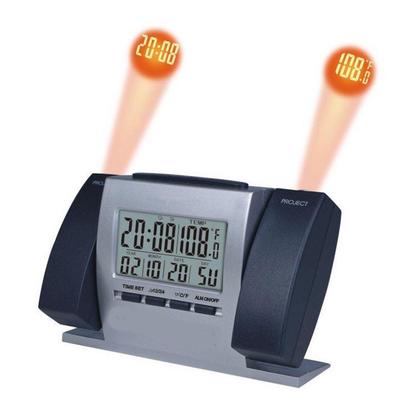 Ψηφιακό επιτραπέζιο ρολόι με ξυπνητήρι + θερμόμετρο +διπλό projector ΟΕΜ   Ρολόγια  επιτραπέζια  9509d989e6e