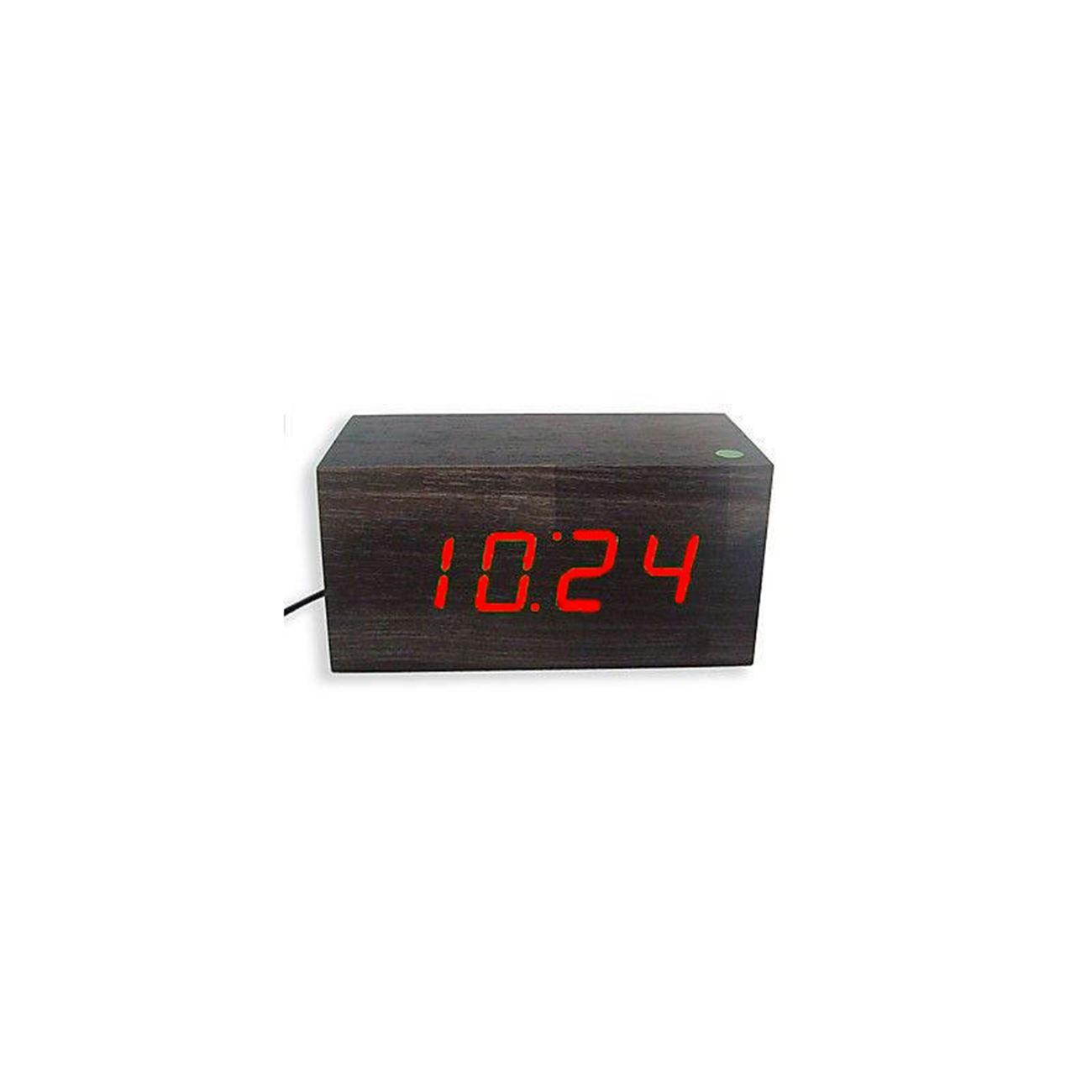 Επιτραπέζιο ξύλινο ψηφιακό ρολόι - ξυπνητήρι - θερμόμετρο LED OEM   Ρολόγια  επιτραπέζια  cc8b4e45ecd