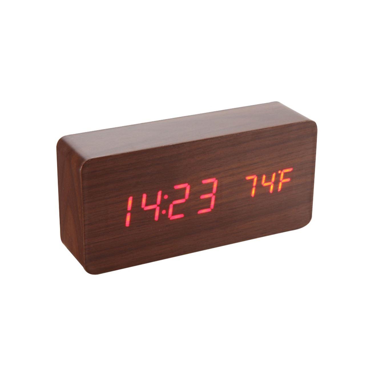 ... Ξύλινο επιτραπέζιο ρολόι με οθόνη LED - Θερμόμετρο - Ξυπνητήρι -  Ημερολόγιο. ΠΙΣΩ ΣΤΗΝ ΛΙΣΤΑ. False. Μεγέθυνση a0331123a8b